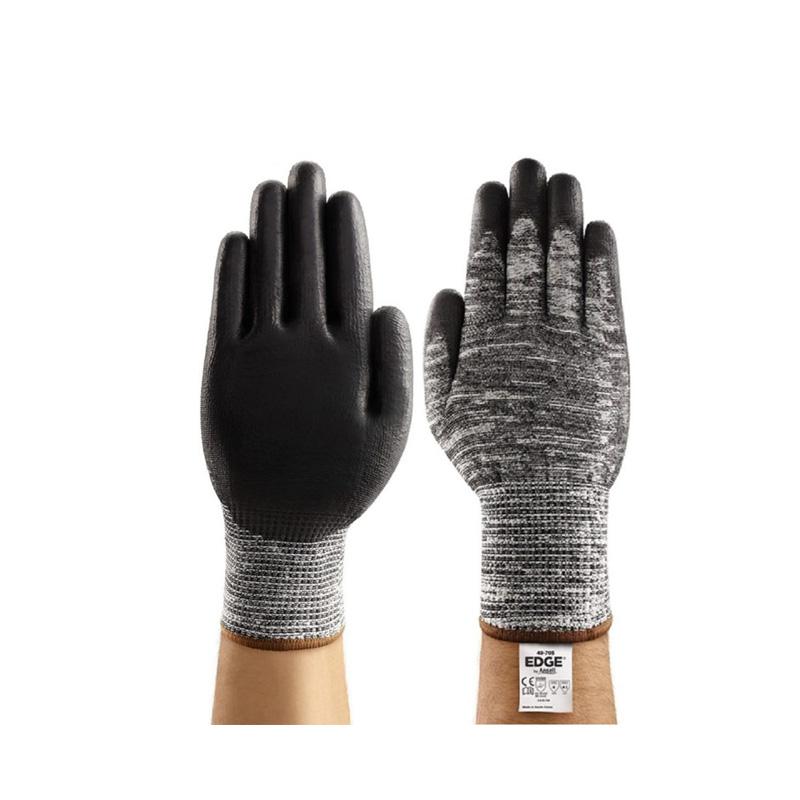 Găng tay chống cắt cấp độ 5 màu trắng đen Ansell Edge 48-705