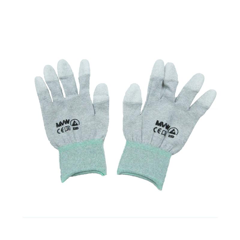 Găng tay bảo hộ sợi carbon MVW phủ PU đầu ngón MVW-CATC-200M (SP203-ND9.2) size M