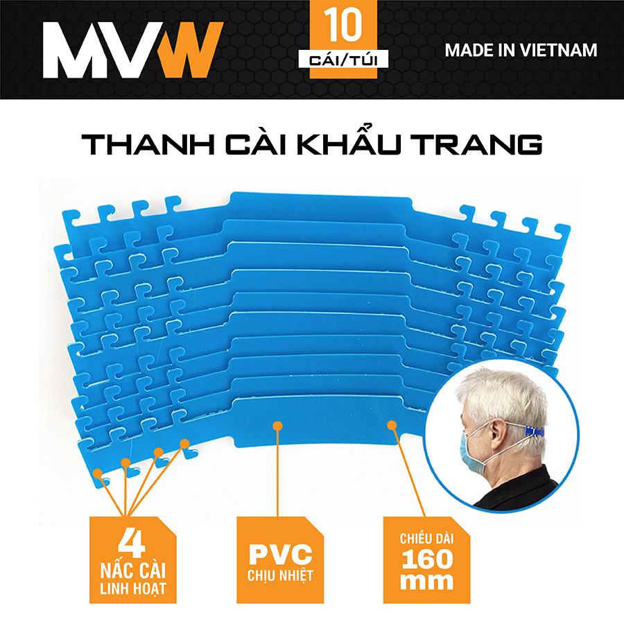 Combo 10 thanh cài khẩu trang 160x20mm MVW-TM-01