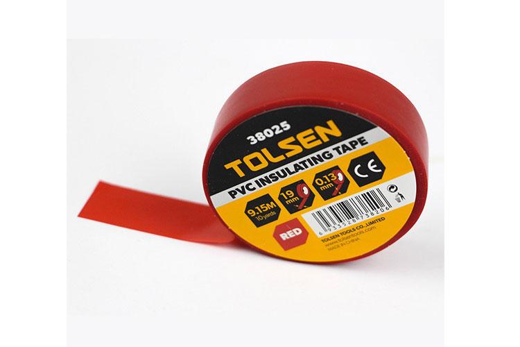 Băng keo điện 9,15m màu đỏ Tolsen 38025