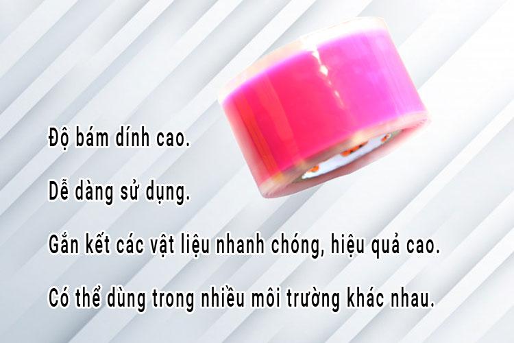 Băng keo nhựa hồng 25mmx2mx0.50mmx100R
