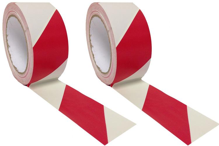 Băng cảnh báo warning đỏ trắng 5cm x 20m Pan Taiwan SE2620