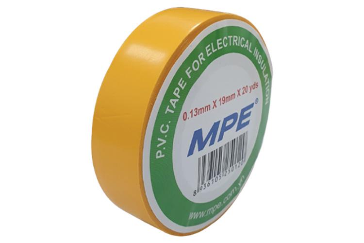 Băng keo điện P.V.C 0.13mmx19mmx20yds BKY-20 màu vàng