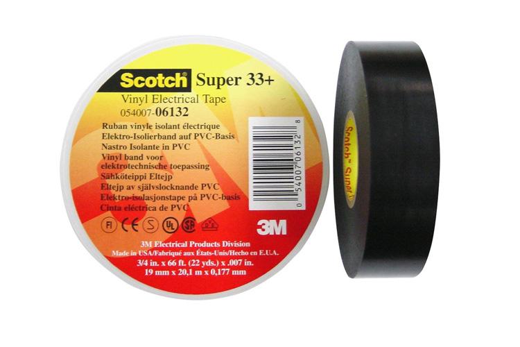 Băng keo điện màu Đen 19mm x 20m 3M BK33