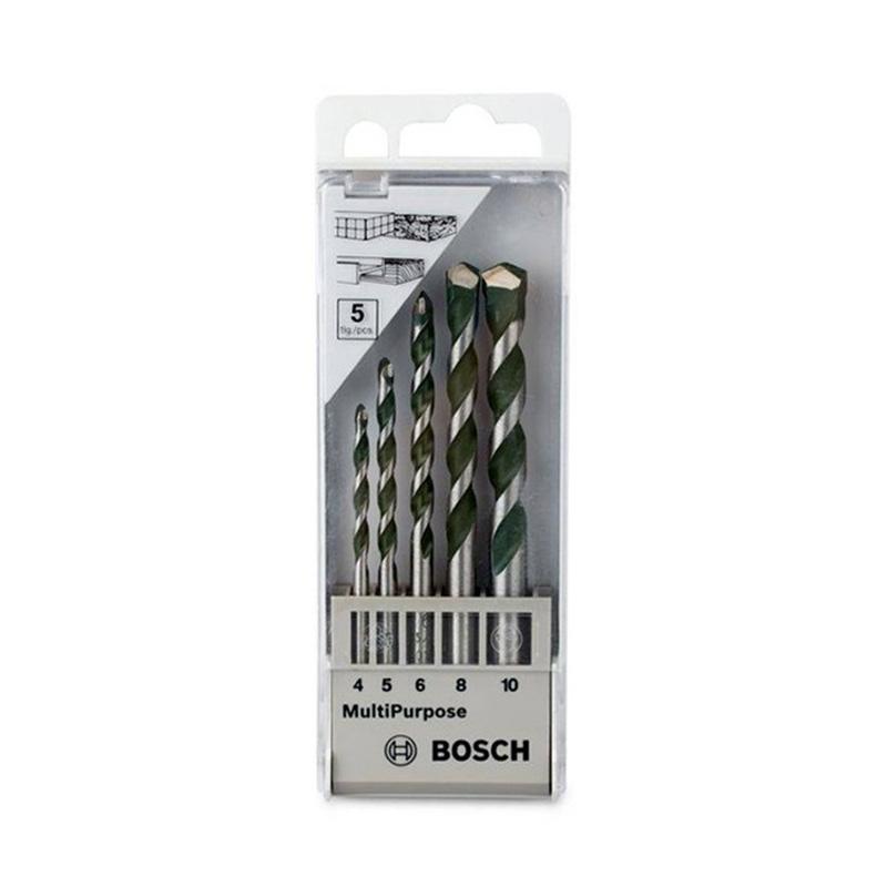 Bộ 5 mũi khoan đa năng chuôi kẹp 4/5/6/8/10mm BOSCH 2608680798