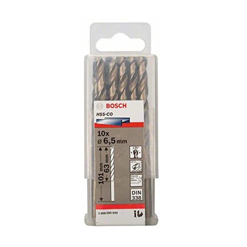 Hộp 10 mũi khoan Inox HSS-Co 6.5mm BOSCH 2608585890