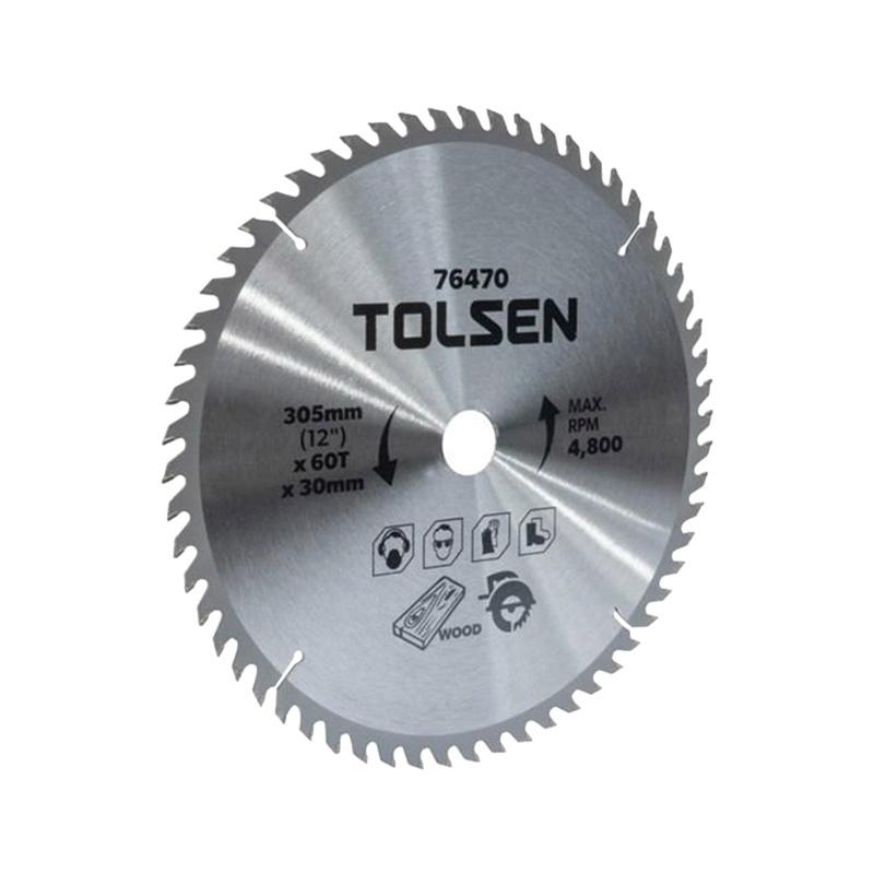 Đĩa cắt gỗ 60 răng 305mm Tolsen 76470