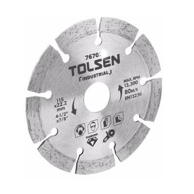 ĐĨA CẮT GẠCH KHÔ 115mm TOLSEN 76702
