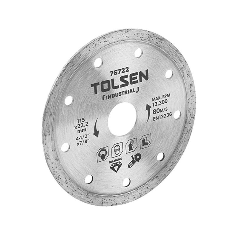 Đĩa cắt gạch ướt 115mm Tolsen 76722