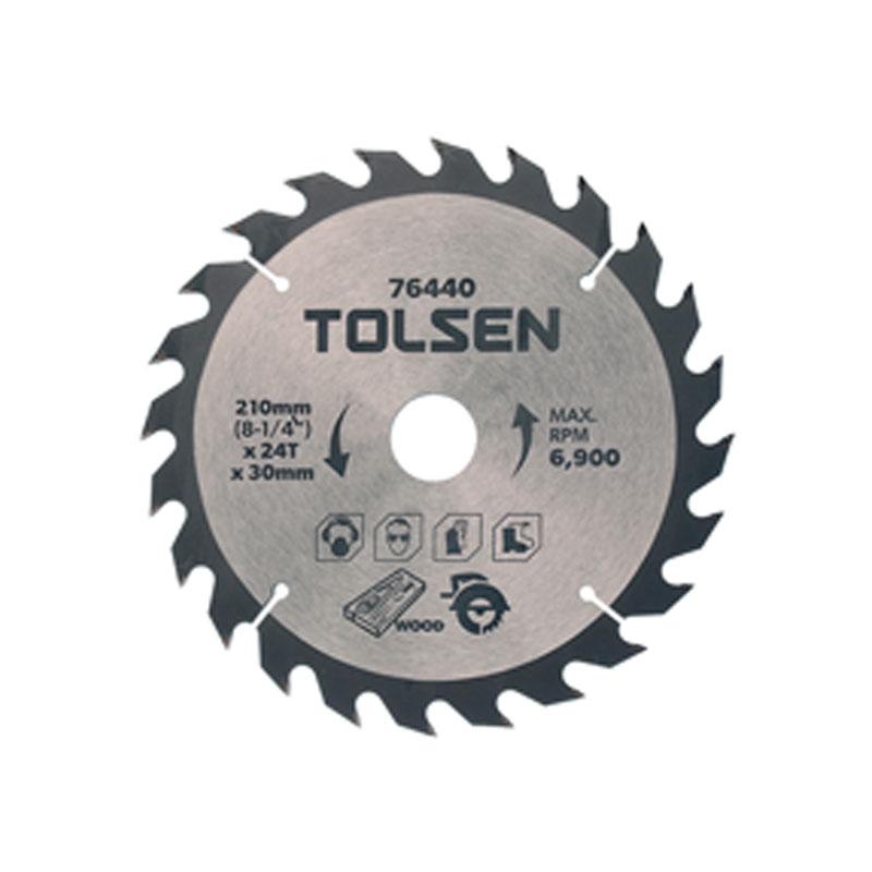 Đĩa cắt gỗ 24 răng 210mm Tolsen 76440