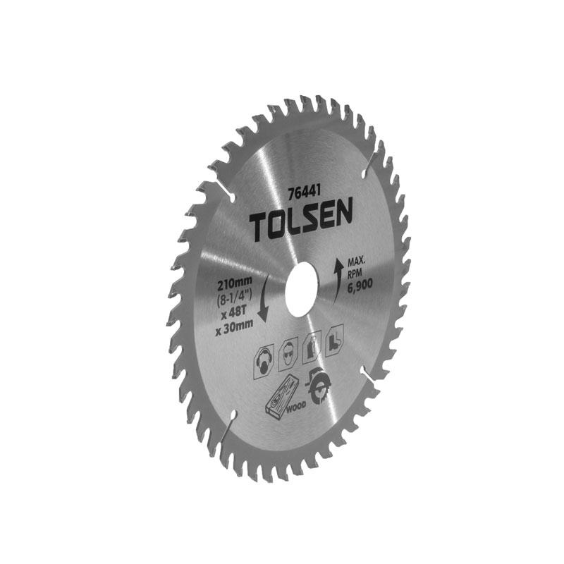 Đĩa cắt gỗ 48 răng 210mm Tolsen 76441