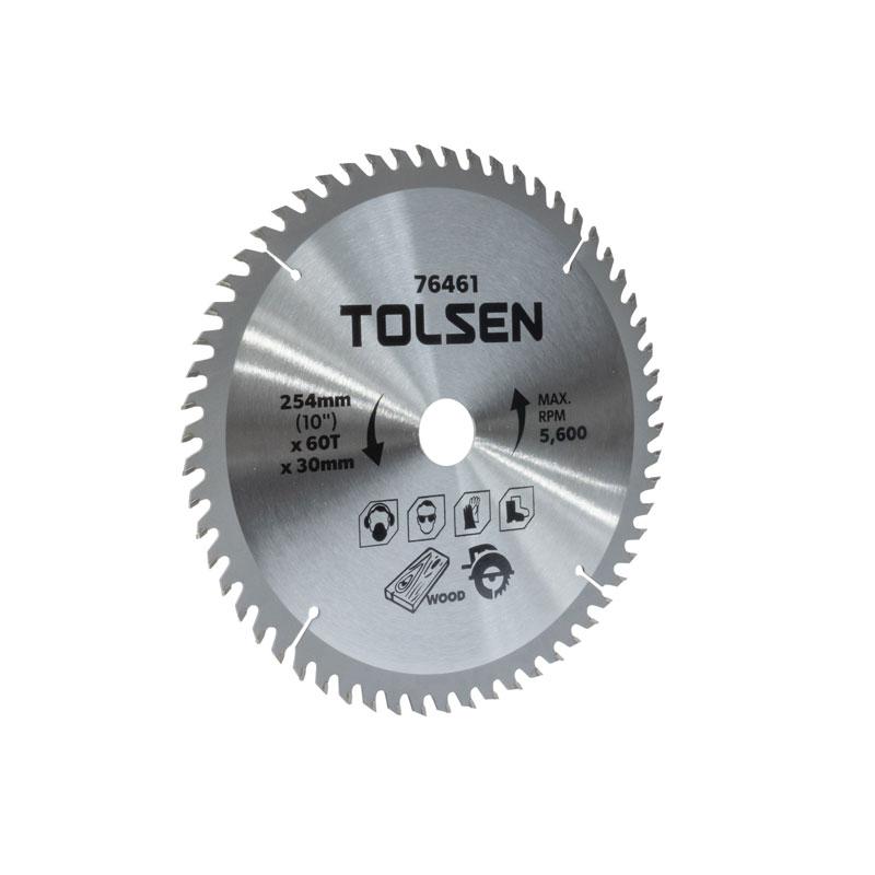 Đĩa cắt gỗ 60 răng 254mm Tolsen 76461