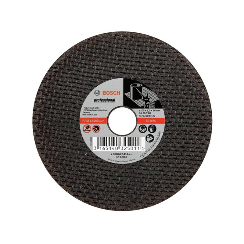 Đá cắt inox 105x1.0x16mm BOSCH 2608607414