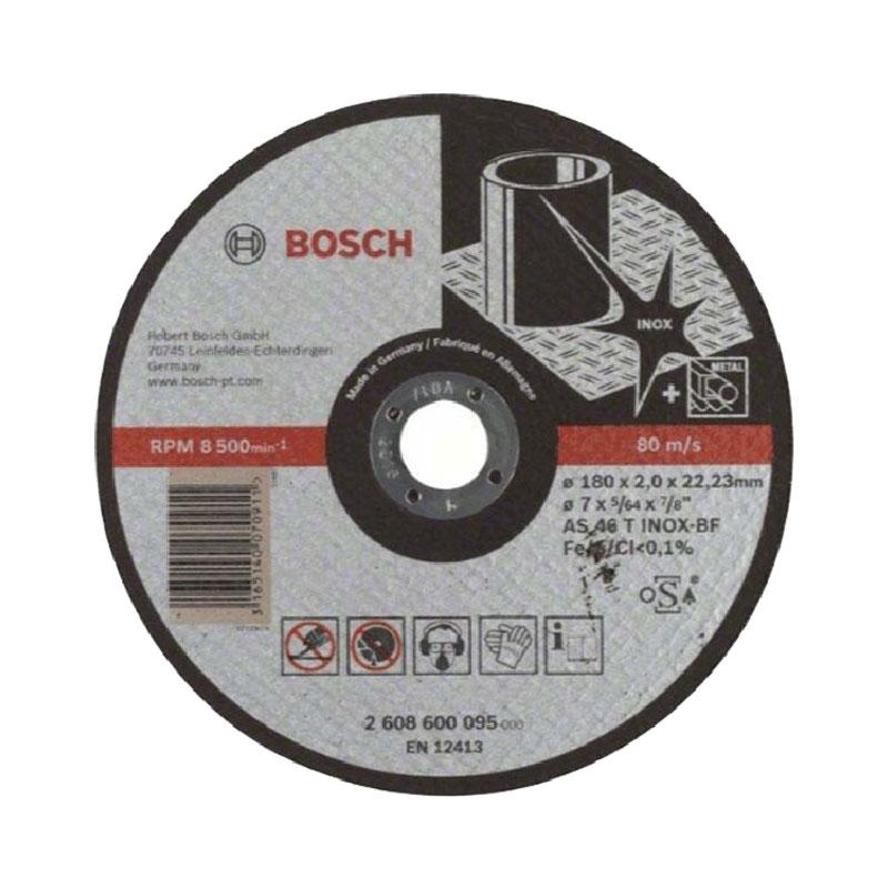 Đá cắt inox 180x2x22.2mm BOSCH 2608600095