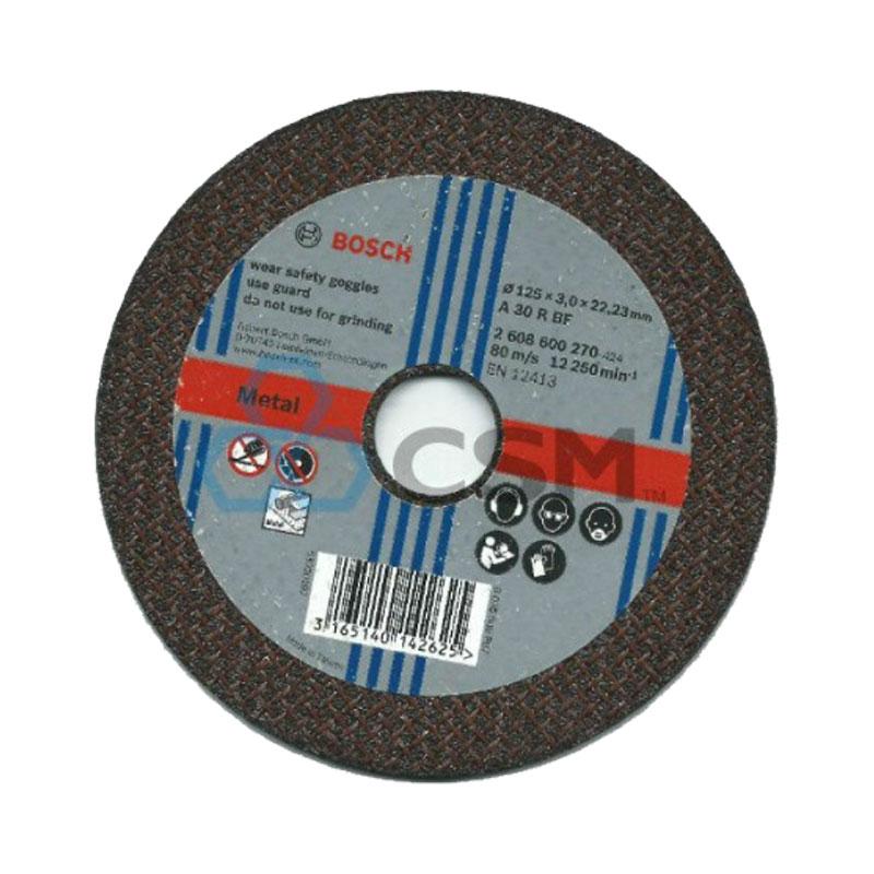 Đá cắt sắt 125x3x22.2mm BOSCH 2608600270