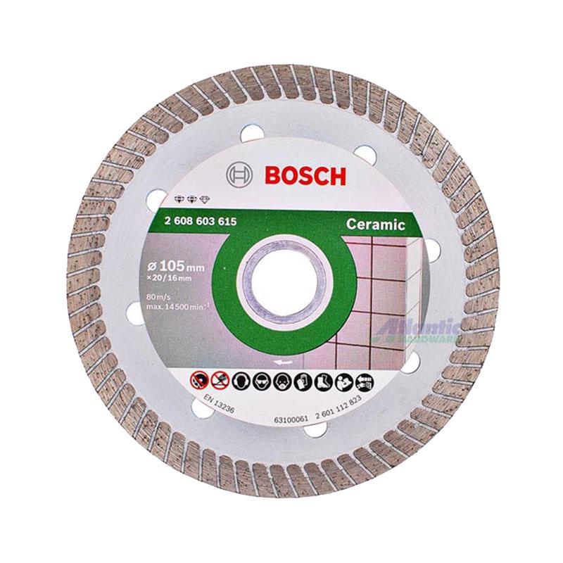 Đĩa cắt kim cương Turbo 105x16mm ceramic BOSCH 2608603615