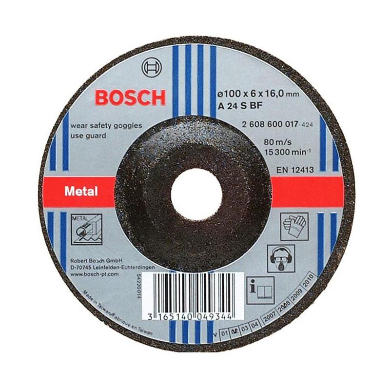 Đá mài sắt 100x6x16mm BOSCH 2608600017
