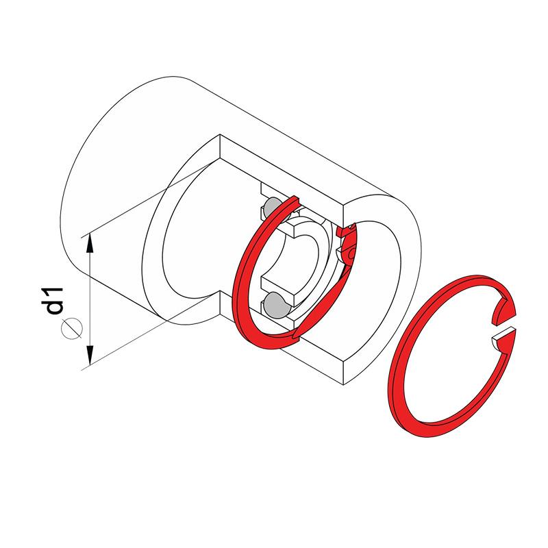 Kìm mở phe trong mũi cong 7 inch Tramontina 44009107