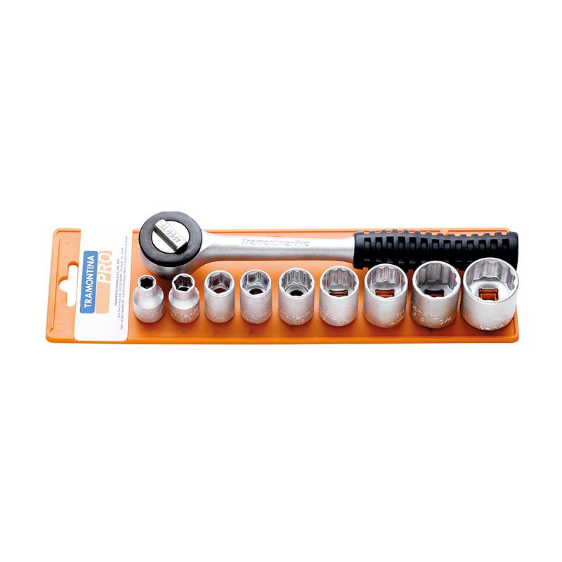 Bộ socket 10PCS 3/8 inch Tramontina 44818510