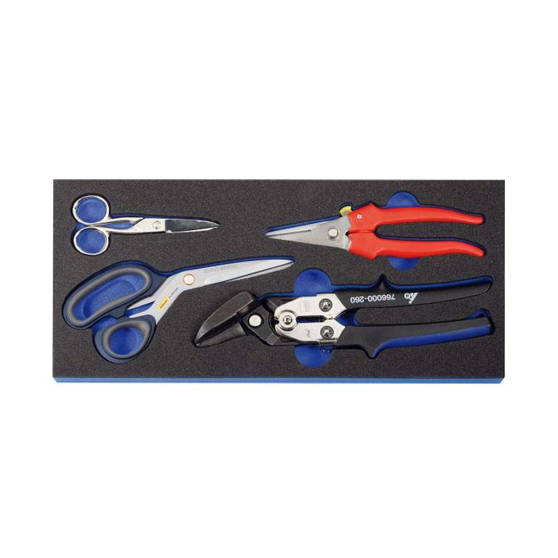 Bộ dụng cụ 4 chi tiết gồm kìm và kéo Holex 916805 4