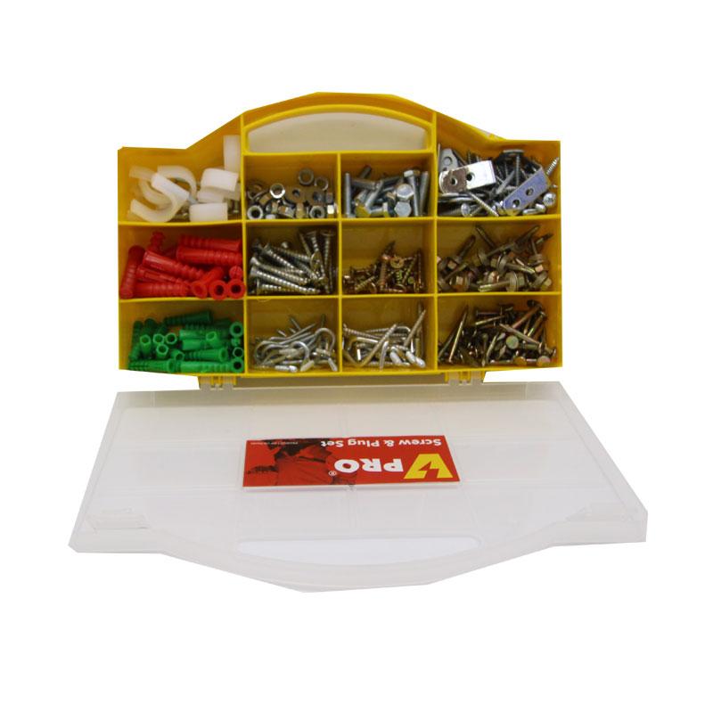 Hộp phụ tùng tiện dụng 323 chi tiết VPRO HW-001 (màu vàng)