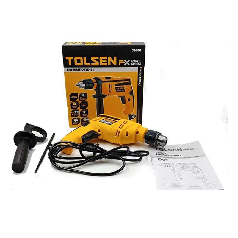 Máy khoan tác động 500W/13mm X-tip Tolsen 79501