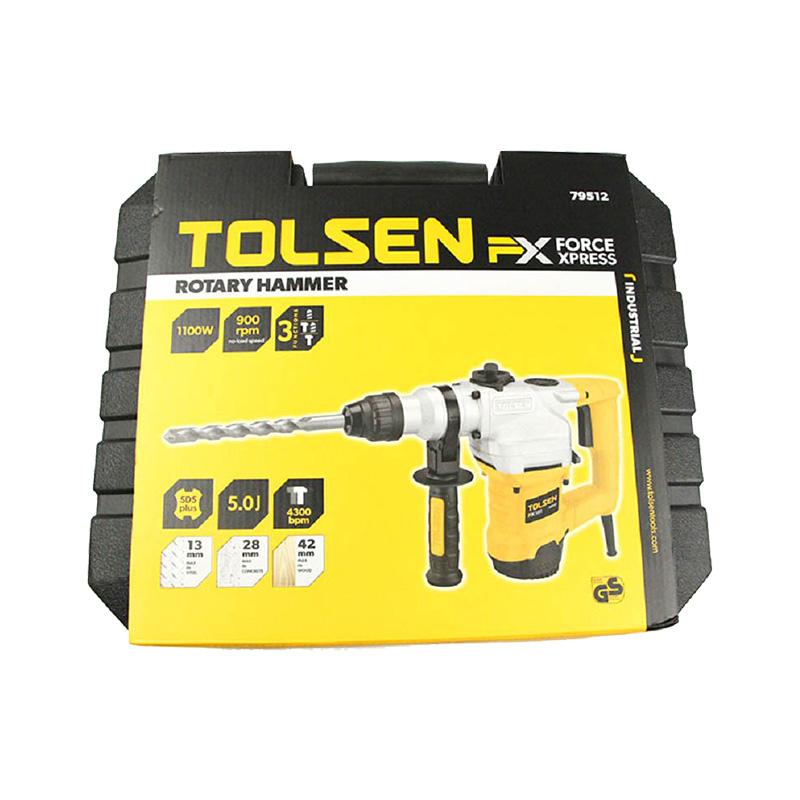Máy khoan búa 3 chức năng 1100W X-tip Tolsen 79512