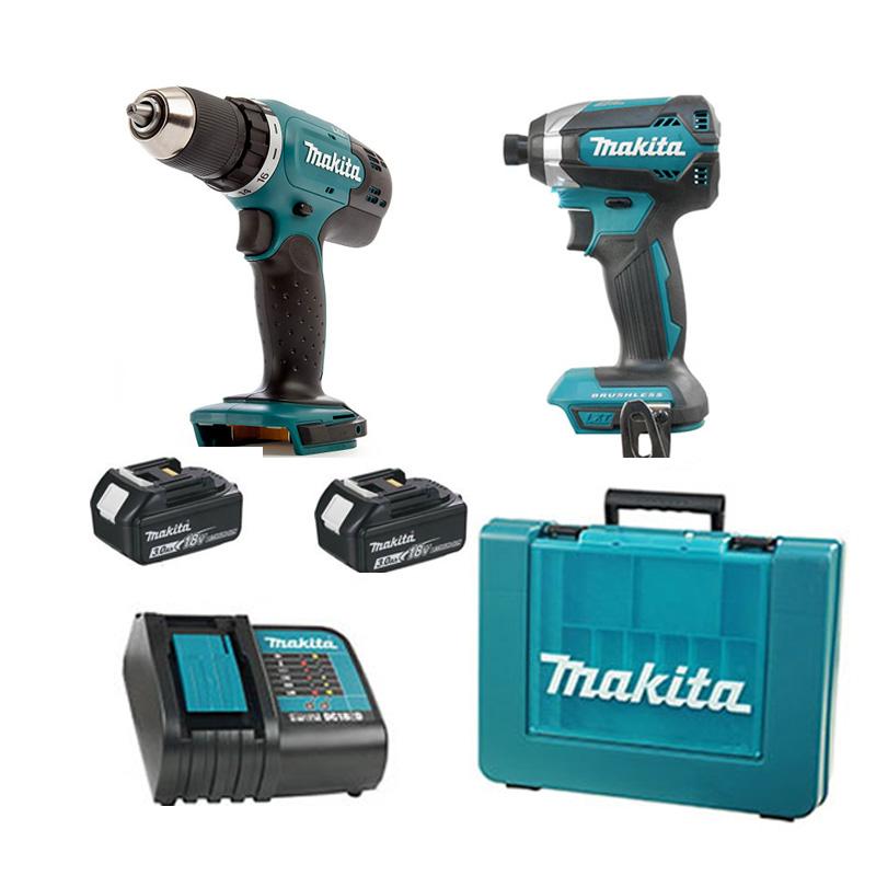 Bộ máy khoan và máy vặn vít 18V/3.0Ah Makita DLX2240