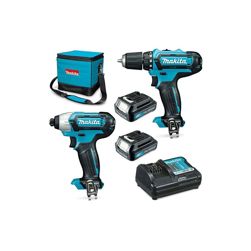 Bộ máy khoan, vặn vít pin 12V/1.5Ah Makita CLX224S