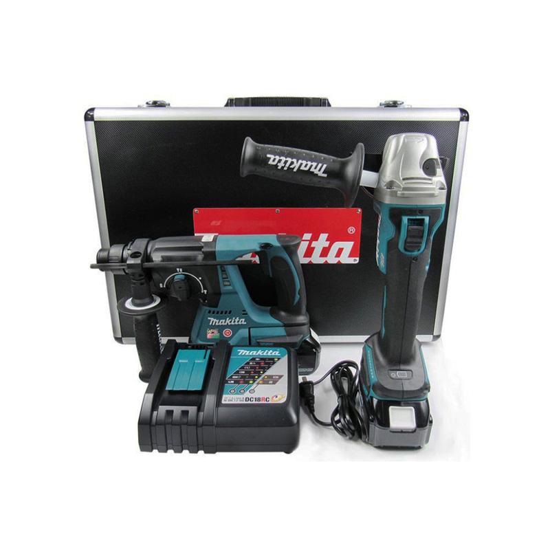 Bộ máy khoan, máy mài góc pin 18V/3.0Ah Makita DLX2161X