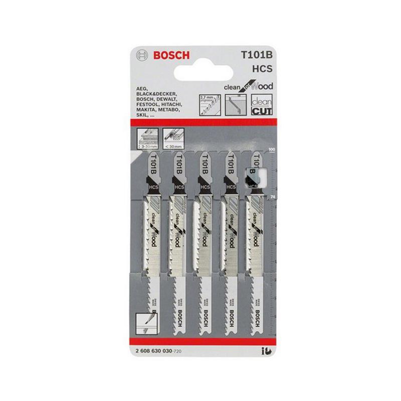 Bộ 5 lưỡi cưa lọng cho gỗ T 101 B BOSCH 2608630030