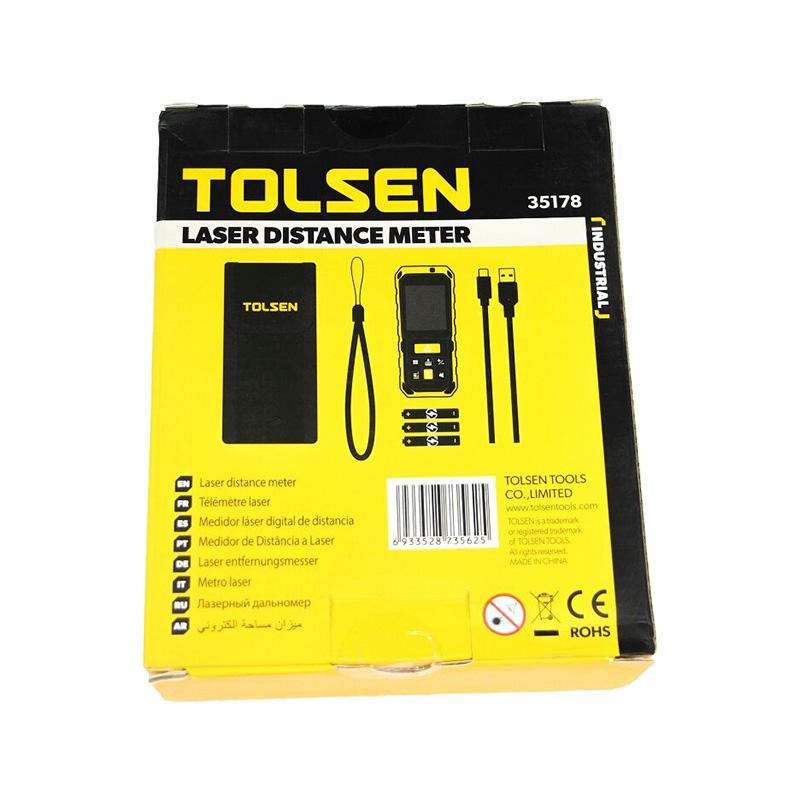 Thước đo khoảng cách 80m bằng laser Tolsen 35178