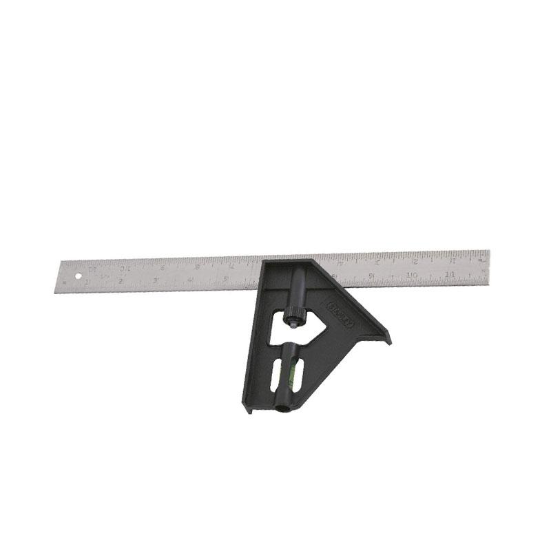 Thước vuông thủy cán nhựa 12 inch Stanley 46-012
