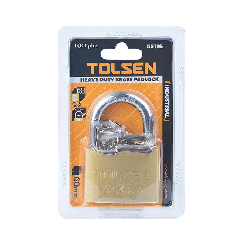 Ổ khóa đồng công nghiệp 60mm Tolsen 55116