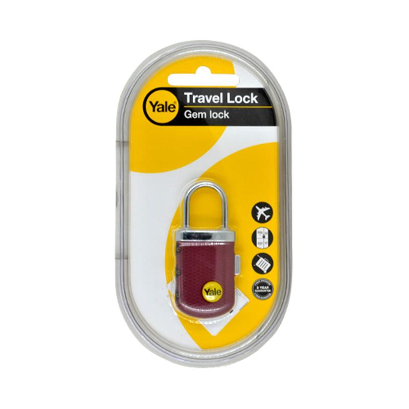 Khóa TSA du lịch 3 số màu đỏ Yale YP3/31/123/1B