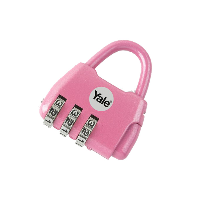 Khóa du lịch NOVELTY 3 số màu hồng Yale Y-NOVELTY-2P