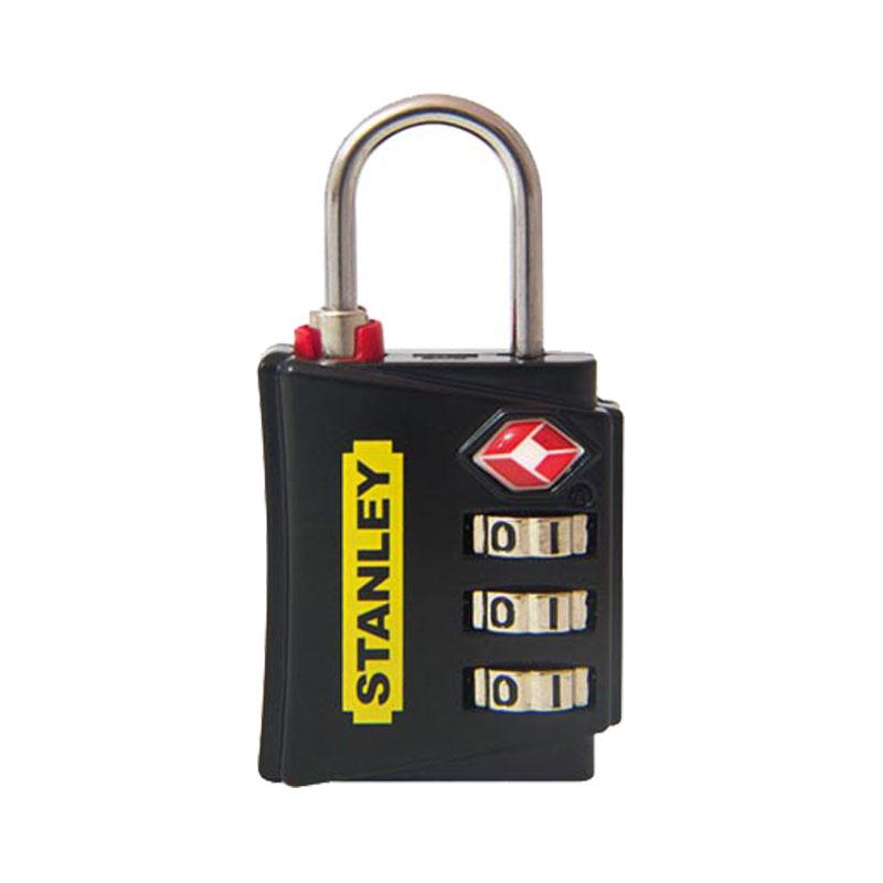 Ổ khóa 3 mã số rộng 30mm màu đen Stanley S742-054