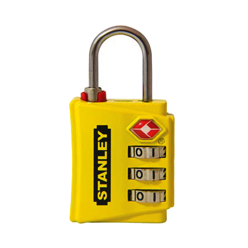Ổ khóa 3 mã số rộng 30mm màu vàng Stanley S742-056