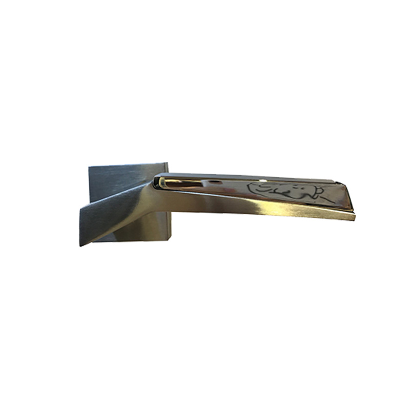 Tay nắm gạt inox đặc ốp vuông 135mm Yale YPSL-612