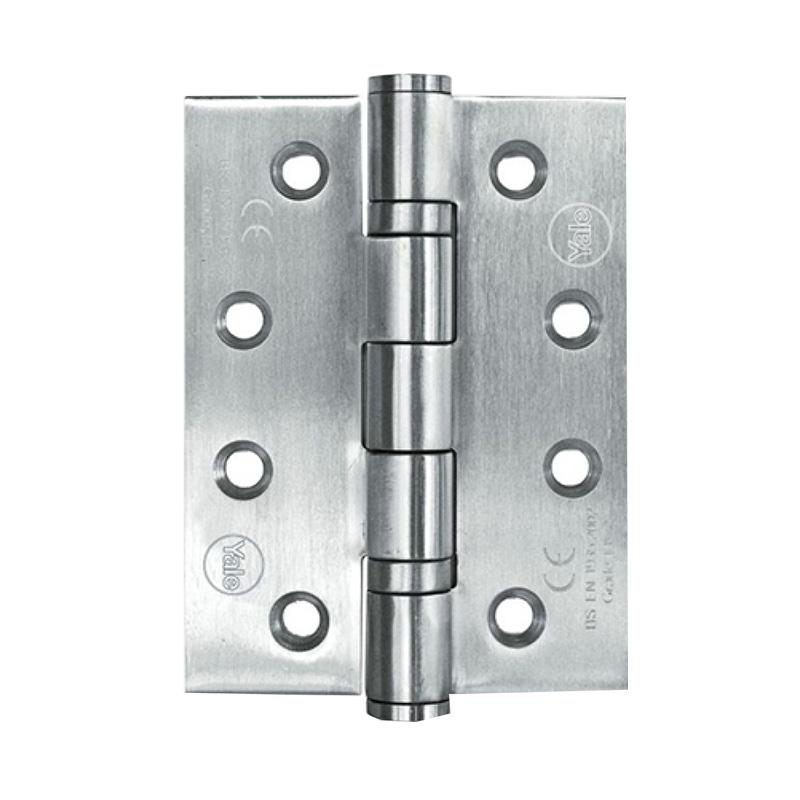 Bản lề lá 4 bi 102 x 76 x3.0mm lỗ vít hình vòng cung Yale 3S4BB403030-CESSS