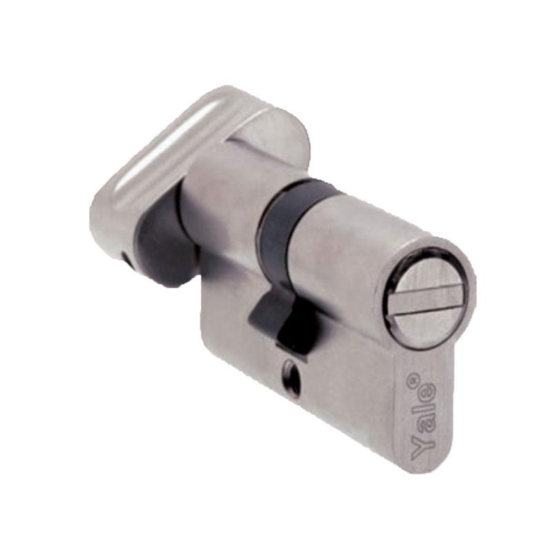 Ruột khóa dài 70mm màu đồng bóng có đầu chìa và đầu chốt vặn Yale 10-1003-3535-CK-02-01