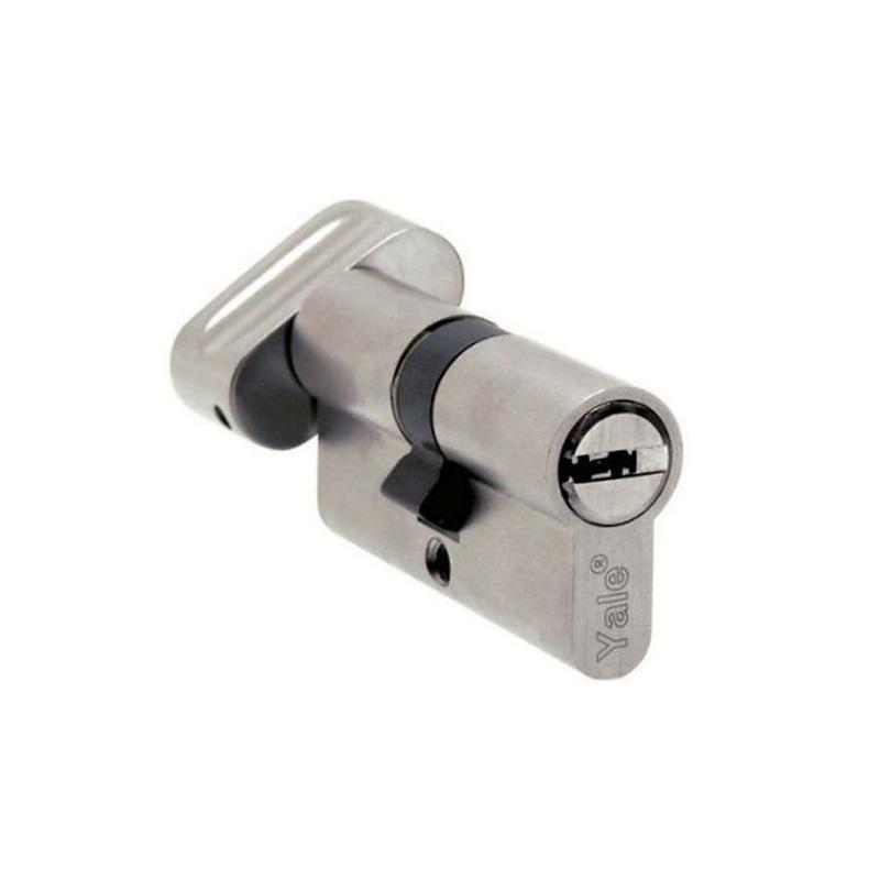 Ruột khóa dài 70mm màu Chrome bóng đầu chìa và đầu chốt vặn Yale 10-1003-3535-CK-11-01