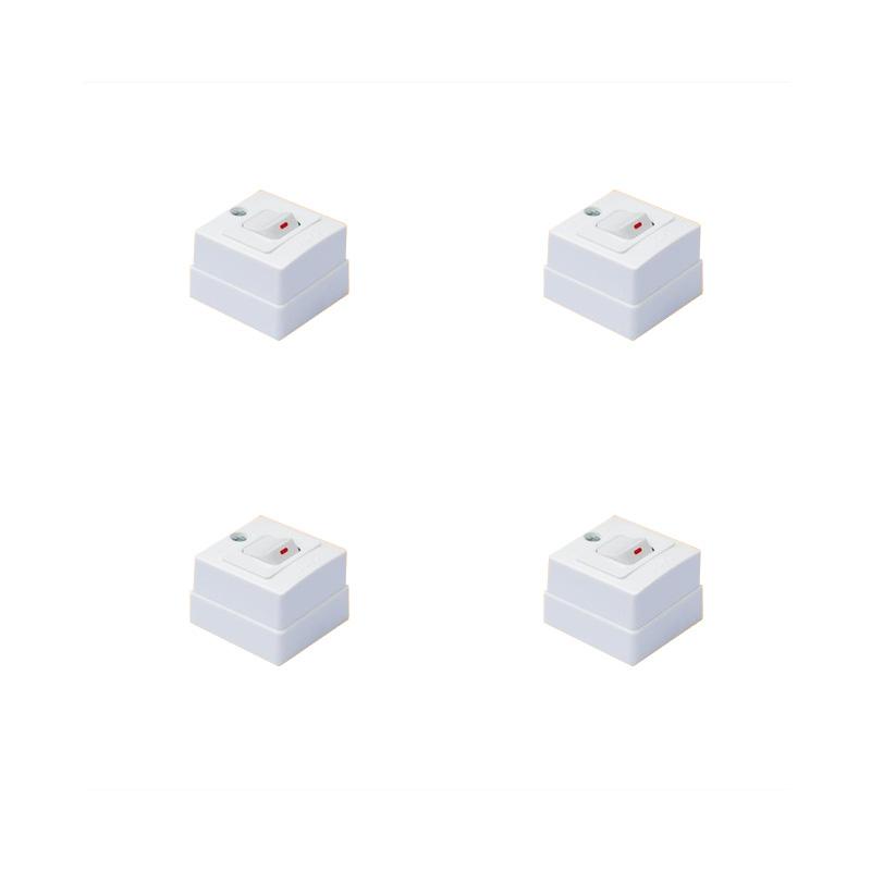 Hộp nổi 1 lỗ vuông lắp công tắc 1 chiều 10A E18S12M LiOA HN1X1S