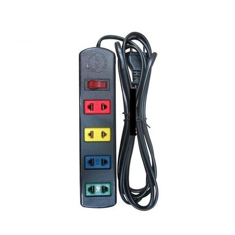 Ổ cắm điện kéo dài phổ thông 4 ổ cắm 1 công tắc dây 5m 1000w/250v LiOA 4TS5-2