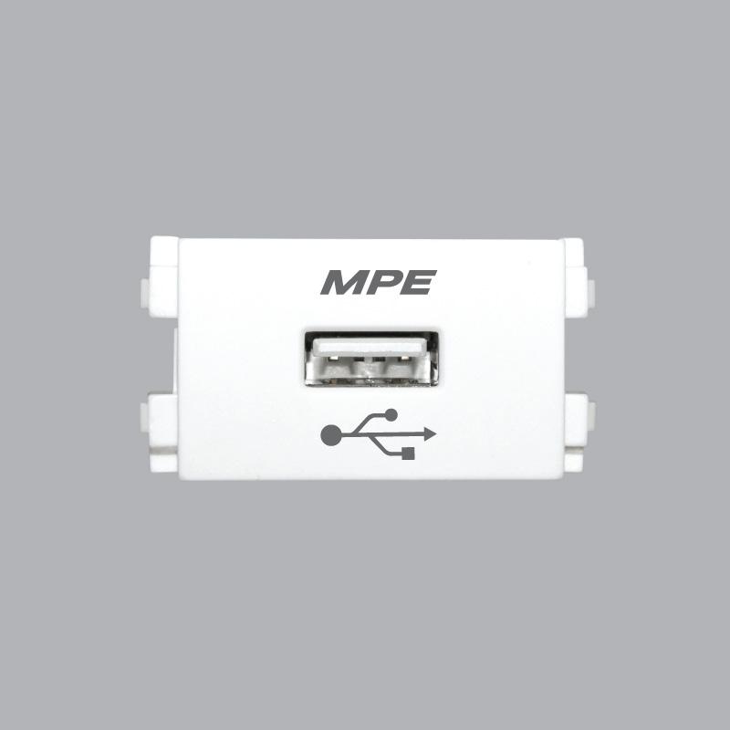 Ổ cắm sạc USB DC-5V-1000mA MPE A6USB