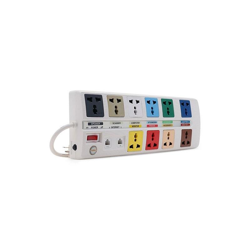 Ổ cắm điện đa năng 10 ổ cắm dây 3m  LiOA 10 OFFICE-3W