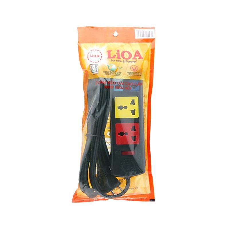 Ổ cắm điện kéo dài đa năng kết hợp 4 ổ cắm 2 lõi dây 3m 2200W - 3300W LiOA 2D2S32
