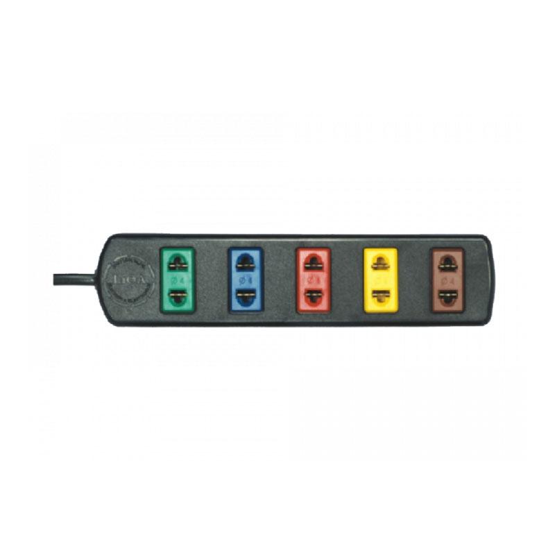 Ổ cắm điện dài phổ thông 4 ổ cắm dây 5m LiOA 5TC5-2