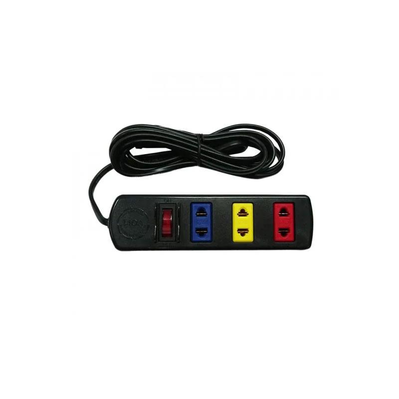 Ổ cắm điện kéo dài phổ thông 3 ổ cắm 1 công tắc dây 3m 1000w/250v LiOA 3TS3-2