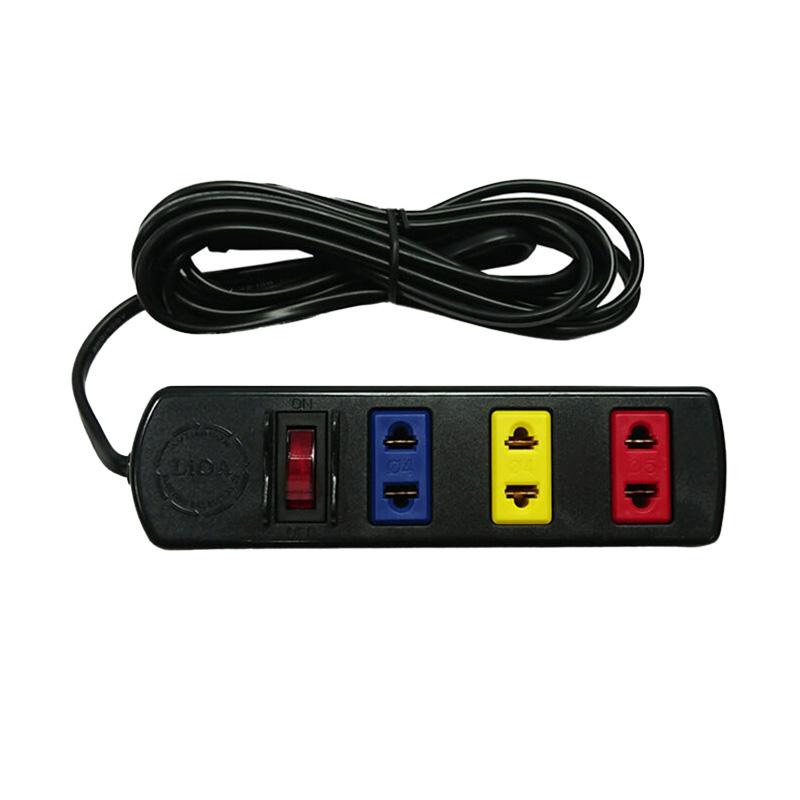 Ổ cắm điện kéo dài phổ thông 3 ổ cắm 1 công tắc dây 5m 1000w/250v LiOA 3TS5-2